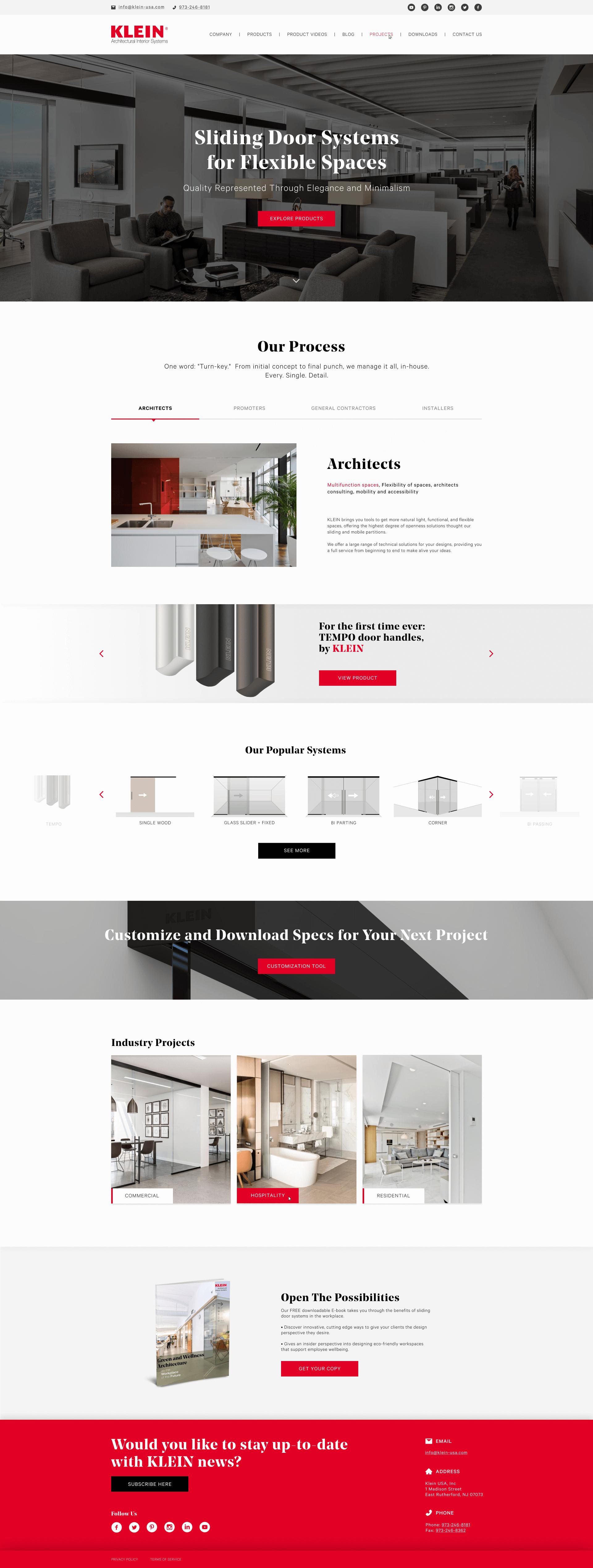 KLEIN Website - Designed & Developed by Bizop Media