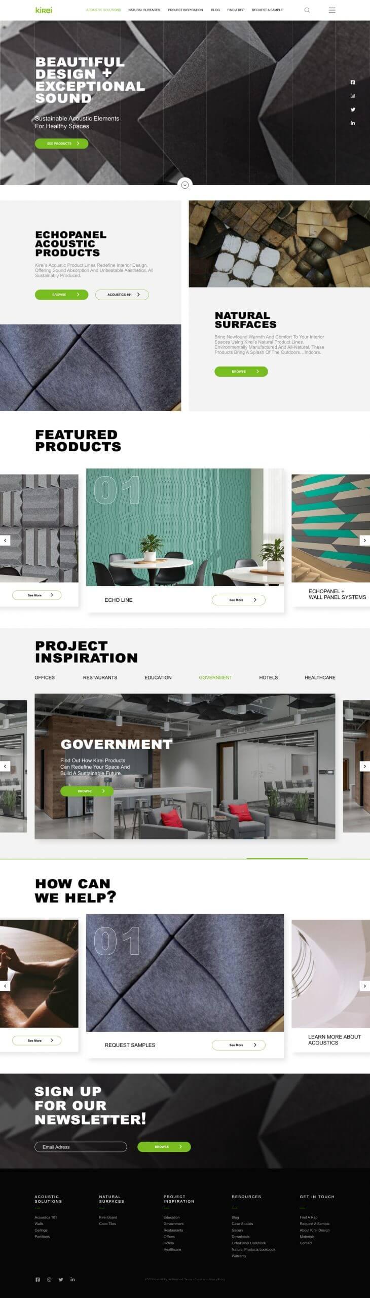 Kirei Website Concept