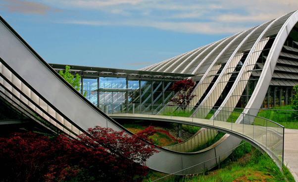 The Zentrum Paul Klee is a museum dedicated to the artist Paul Klee, located in Bern, Switzerland and designed by the Italian architect Renzo Piano. It features about 40 percent of Paul Klee's entire pictorial oeuvre. Source Wikipedia